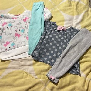 Bundle of 2 matching baby girl outfits